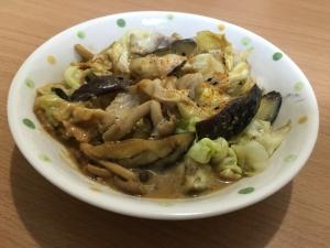 豚肉と野菜のピリ辛味噌チーズ炒め