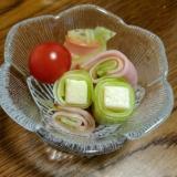 ハムきゅうり&チーズきゅうりのピンチョス