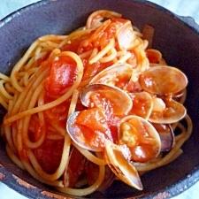 あさりのトマトスパゲッティー