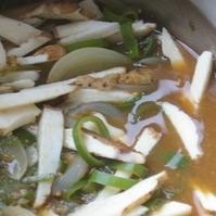 長芋とネギの味噌煮