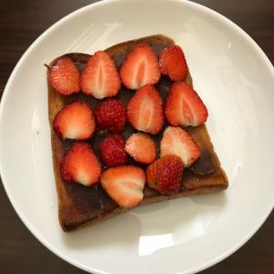 苺あんバタートースト