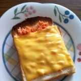 *朝食に♪鮭フレーク&チーズパン*