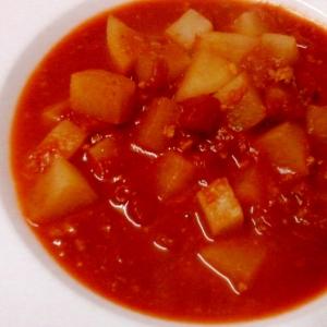 挽き肉と大根のトマトスープ