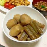 大きな里芋と水煮蕗の煮物♡