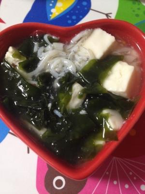 離乳食☆豆腐としらすとわかめのあんかけ