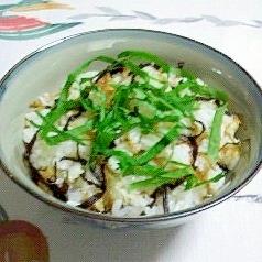 一人で楽しむ~ちりめん山椒と塩昆布の混ぜご飯~♪