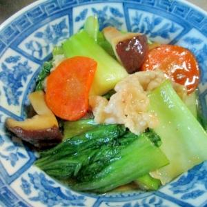 青梗菜と椎茸の中華炒め