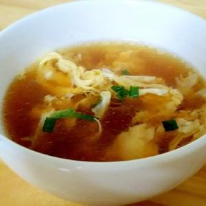 優しい味の卵スープ