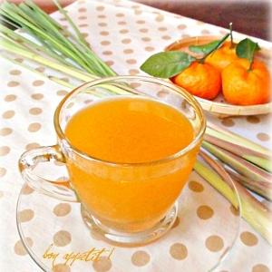 ★冬はホットで♪レモングラス入りオレンジエード★