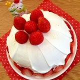 クリスマスに!いちごのドームケーキ♡