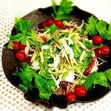 おもてなしサラダ!野菜たっぷりカツオのサラダ