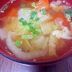 白菜とにんじんのスープ