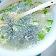 決め手は海苔?いつもの卵スープが韓国風?
