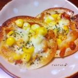 簡単☆餃子の皮ピザ