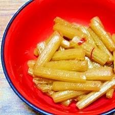 蕗☆赤糖醬油煮