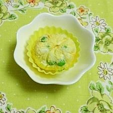 グリーンピース入りポテトサラダの茶巾