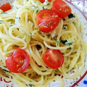 バジルとミニトマトで簡単!スパゲッティバジリコ