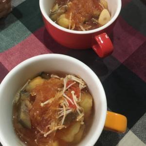 春雨トマトスープ