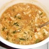 ツルムラサキ入り中華スープ