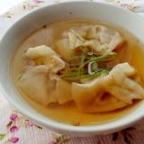 さんま蒲焼缶で!簡単絶品和風スープ餃子