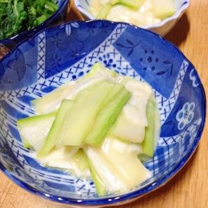 長芋とウドの酢味噌和え