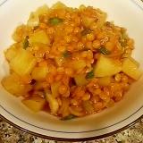 レンズ豆とじゃがいものトマト煮