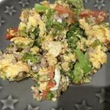 ブロッコリーとトマトの卵炒め