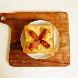 チーズとウインナーのオープンサンド♪