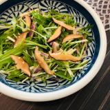 干し椎茸と水菜の中華風サラダ