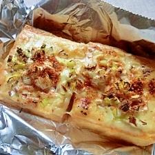 トースターで簡単♪厚揚げのキムチチーズ焼き✿