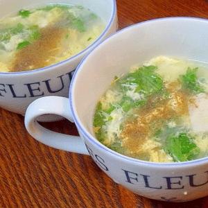 ホタテ卵スープ