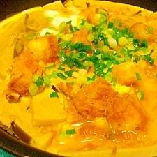 高野豆腐とお麩の卵とじ