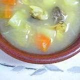 じゃが芋を入れて、あさりのスープ