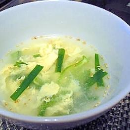 さっぱり美味しいニラ玉スープ♪