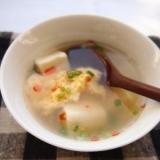 豆腐と卵のぽかぽかスープ