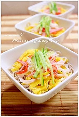 ダイエット中の方へお勧め!蕎麦で作る冷やし中華