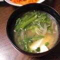 あっという間にできる♪豆腐と春菊のスープ