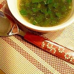 モロヘイヤのガーリックスープ♪
