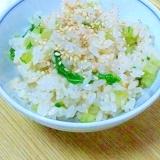 ★★カブの葉とカツオ節で菜飯★★
