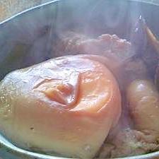 お弁当に、しいたけと卵の煮物