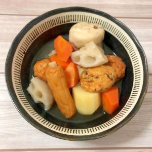 根菜とおでんの具の煮物♪