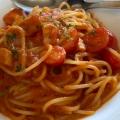 ベーコンとトマトのスパゲティ