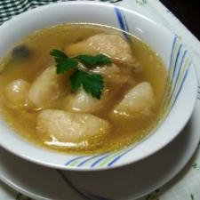 かぶと手羽先のスープ