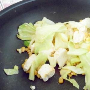 豆腐と野菜の炒め物
