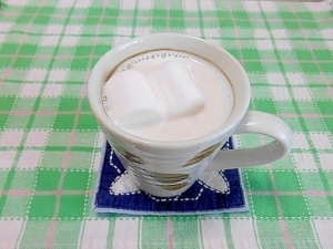 マシュマロ&苺ジャムホットミルク