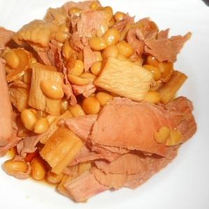 マグロのあらと干し大根・大豆の煮もの
