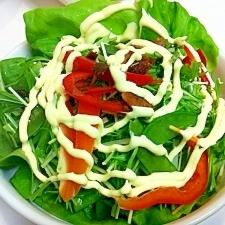 レタスとパプリカの☆ローストガーリックサラダ