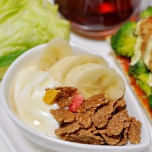 オールブラン&バナナの朝食ヨーグルト