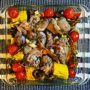 大皿料理!ラム肉と野菜のグリル!