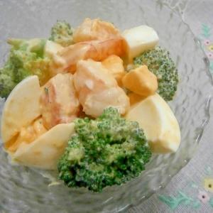 デリの味♪海老とブロッコリーのタルタルサラダ☆